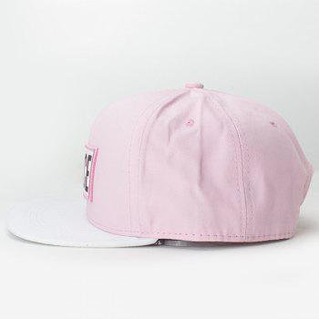 Chic Letters Rubber Rectangle Embroidery Fresh Summer Style Women's Baseball Cap - PINK