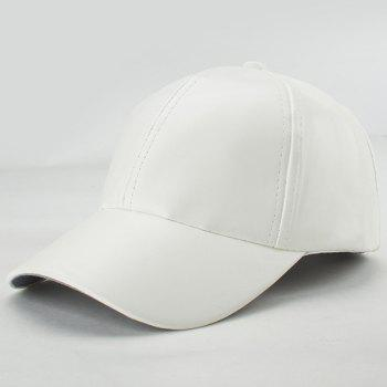 Stylish Candy Color Hip Hop Smooth PU Baseball Hat
