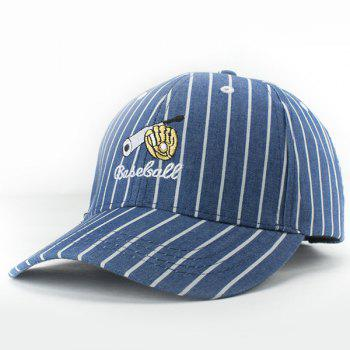 Active Style Baseball Equipment Embroidery Summer Sunscreen Vertical Striped Baseball Hat