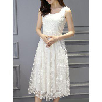 Stylish Women's Sleeveless A-Line Lace Dress