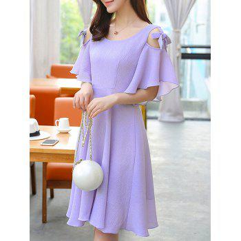 Stylish Women's Cold Shoulder Butterfly Sleeve Dress - XL XL