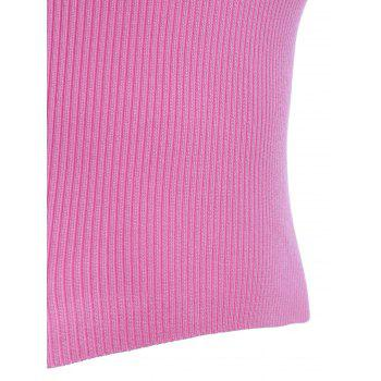 Preppy Pure Color V Neck Knitted Tank Top For Women - ONE SIZE(FIT SIZE XS TO M) ONE SIZE(FIT SIZE XS TO M)
