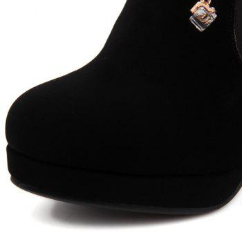 Stylish Pendant and Stiletto Heel Design Women's Pumps - BLACK BLACK