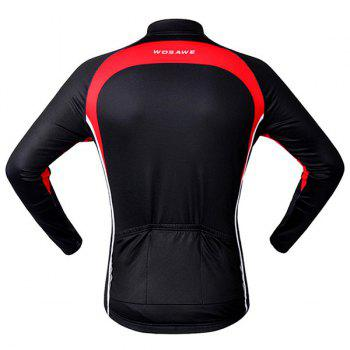 Chic Quality Long Sleeve Thermal Fleece Cycling Jacket For Unisex - RED/BLACK XL