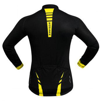 Hot Sale Long Sleeve Warmth Thermal Fleece Cycling Jacket For Unisex - YELLOW/BLACK 2XL
