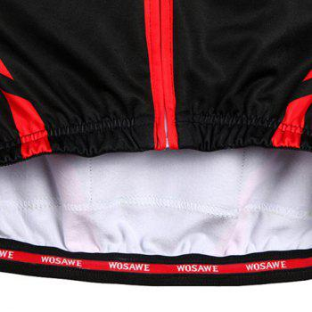Hot Sale Long Sleeve Warmth Thermal Fleece Cycling Jacket For Unisex - RED/BLACK L