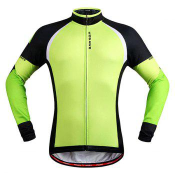 Simple Windproof Long Sleeve Thermal Fleece Cycling Jacket For Unisex