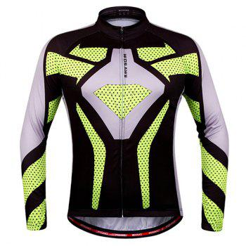 Chic Quality Polka Dot Pattern Breathable Quick Dry Cycling Long Sleeve Jersey For Unisex