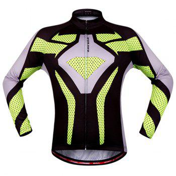 Chic Quality Polka Dot Pattern Breathable Quick Dry Cycling Long Sleeve Jersey For Unisex - COLORMIX 2XL