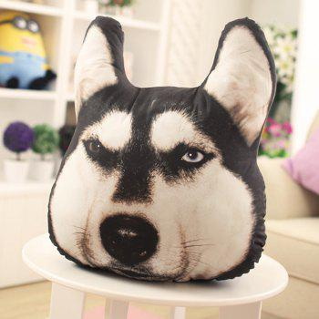Novelty 3D Huskie Home Decoration Dog Shape Design Pillow