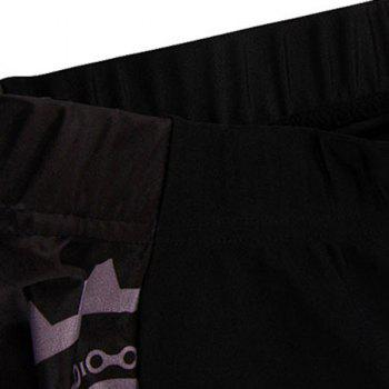 Chic Quality Breathable Quick Dry Gel Padded Cycling Shorts For Unisex - BLACK 2XL