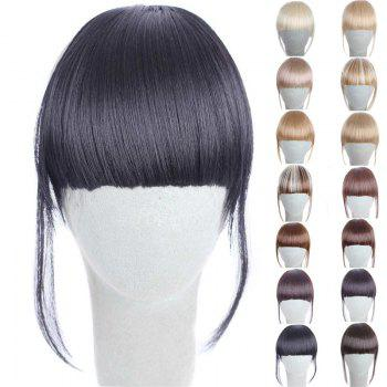 Fashion 14 Colors Clip In Synthetic Women's Front Full Bang With Sideburns - BLACK BLACK