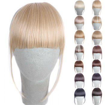 Fashion 14 Colors Clip In Synthetic Women's Front Full Bang With Sideburns - GOLDEN BROWN WITH BLONDE GOLDEN BROWN/BLONDE