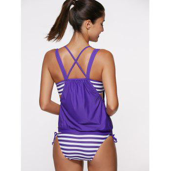 Halter Neck Hollow Out Tankini Set - S S