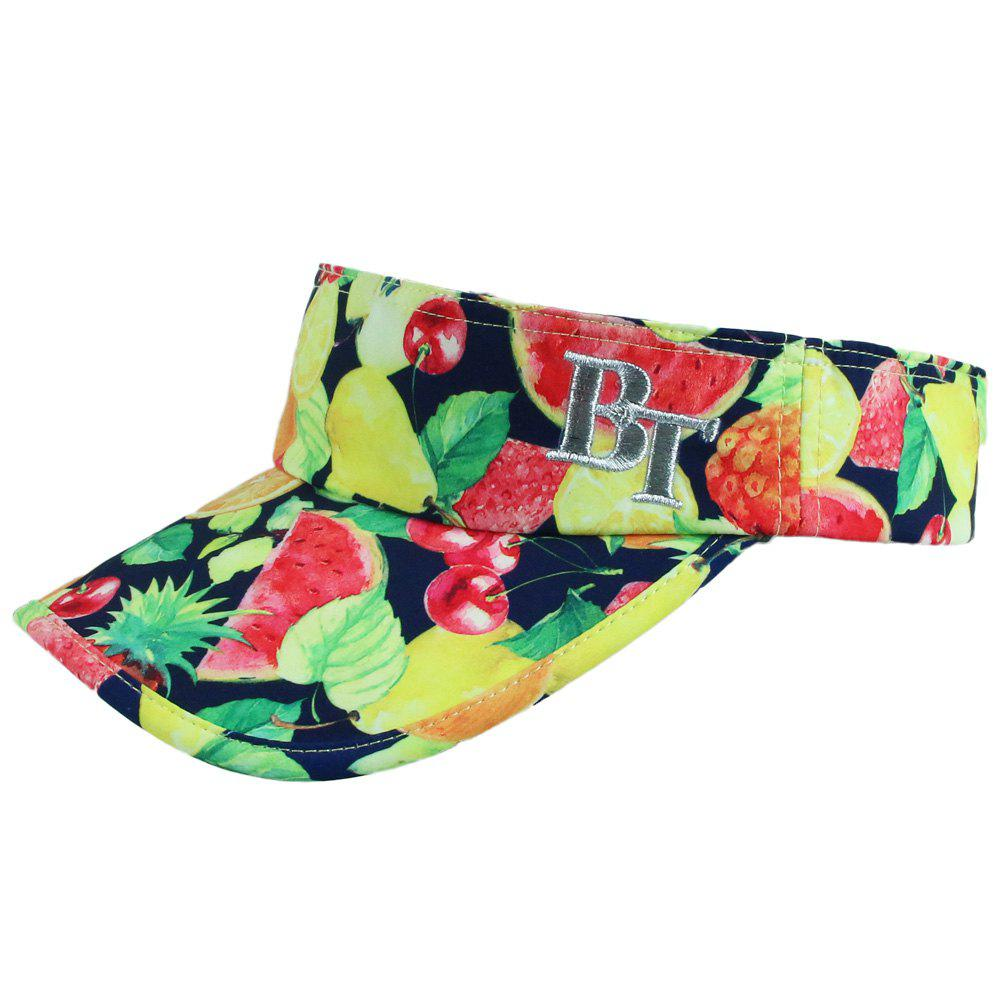 Chic Various Fruit Print Letter Embroidery Beyond 18th Women's Sun Visor - YELLOW