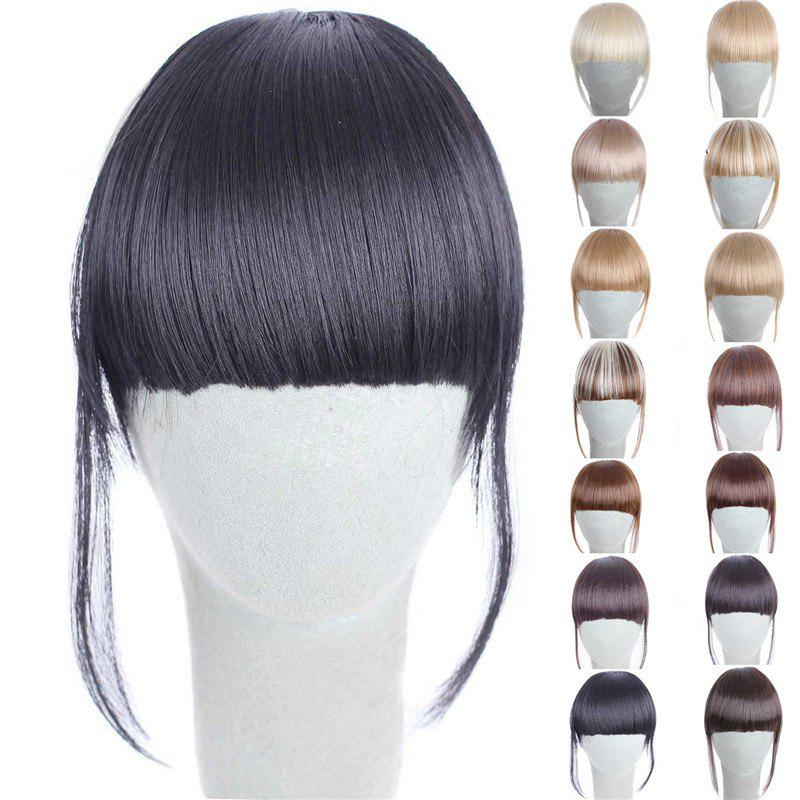 Fashion 14 Colors Clip In Synthetic Women's Front Full Bang With Sideburns - BLACK