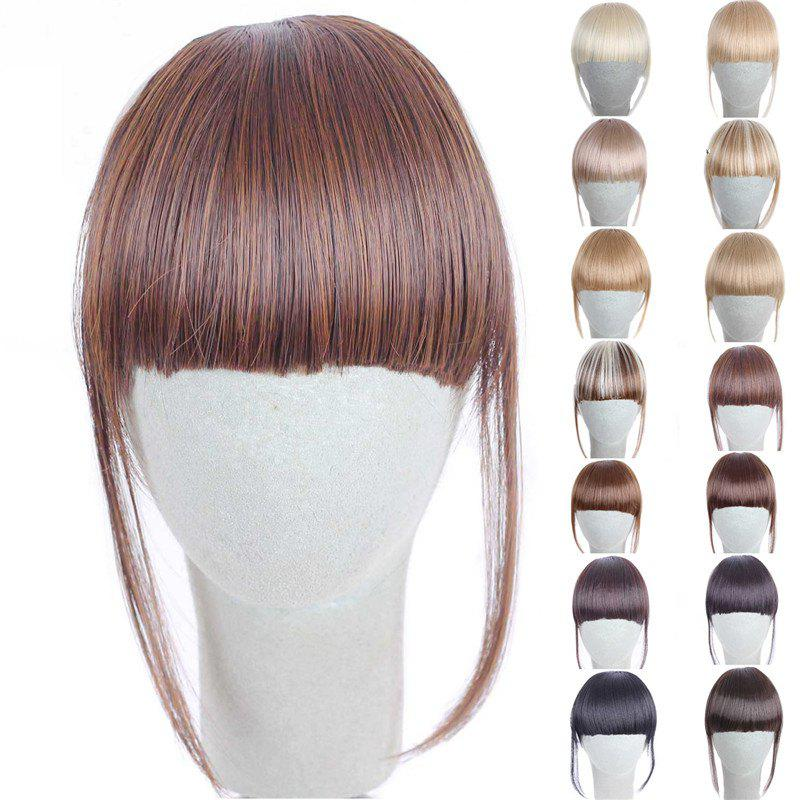 Fashion 14 Colors Clip In Synthetic Women's Front Full Bang With Sideburns - BROWN