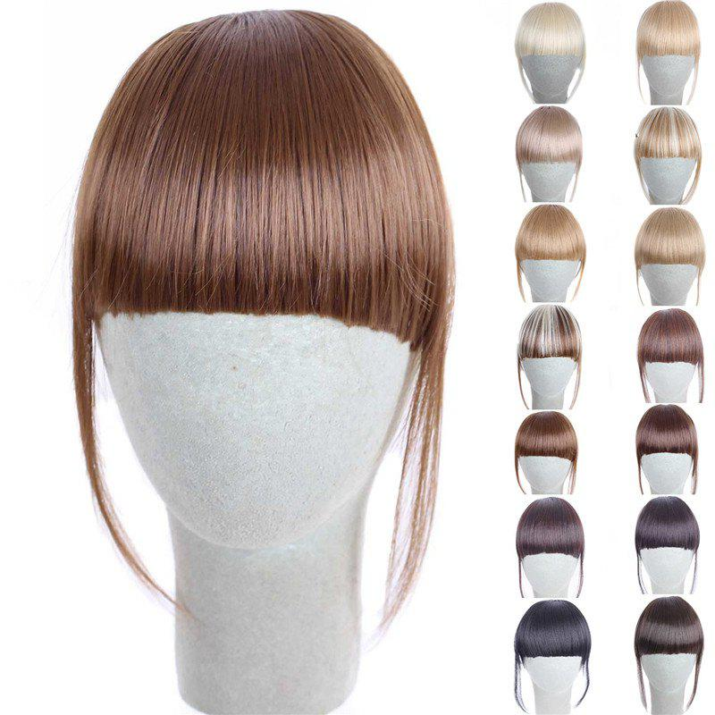 Fashion 14 Colors Clip In Synthetic Women's Front Full Bang With Sideburns - FLAX