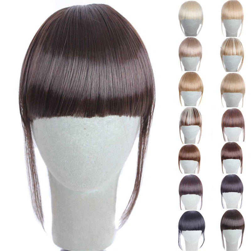 Fashion 14 Colors Clip In Synthetic Women's Front Full Bang With Sideburns - TAN