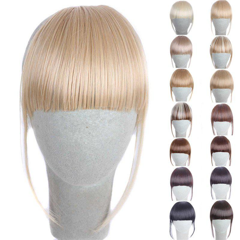 Fashion 14 Colors Clip In Synthetic Women's Front Full Bang With Sideburns - GOLDEN BROWN/BLONDE