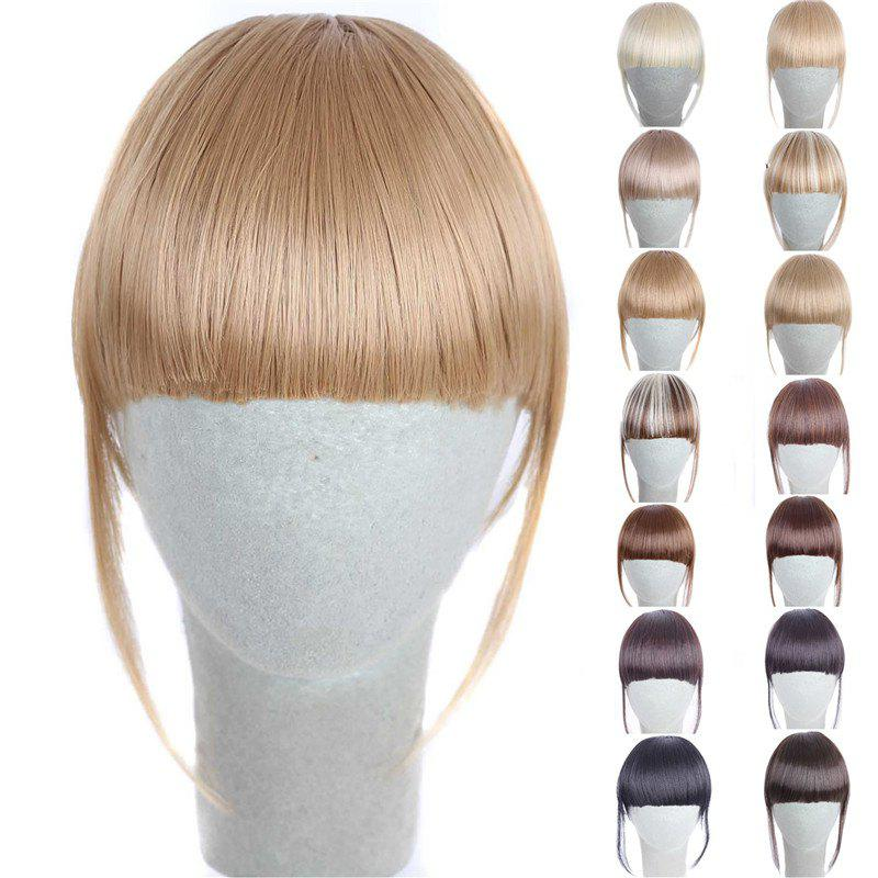Fashion 14 Colors Clip In Synthetic Women's Front Full Bang With Sideburns - GOLDEN BLONDE