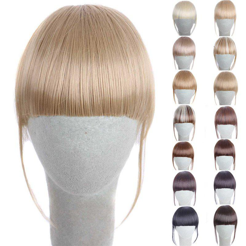 Fashion 14 Colors Clip In Synthetic Women's Front Full Bang With Sideburns - GOLDEN