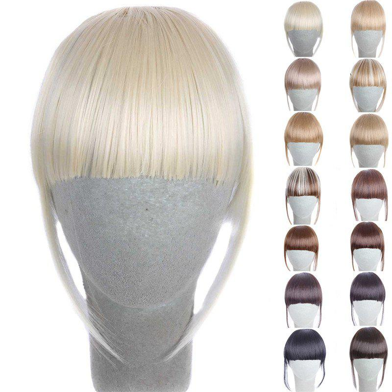 Fashion 14 Colors Clip In Synthetic Women's Front Full Bang With Sideburns - LIGHT GOLD