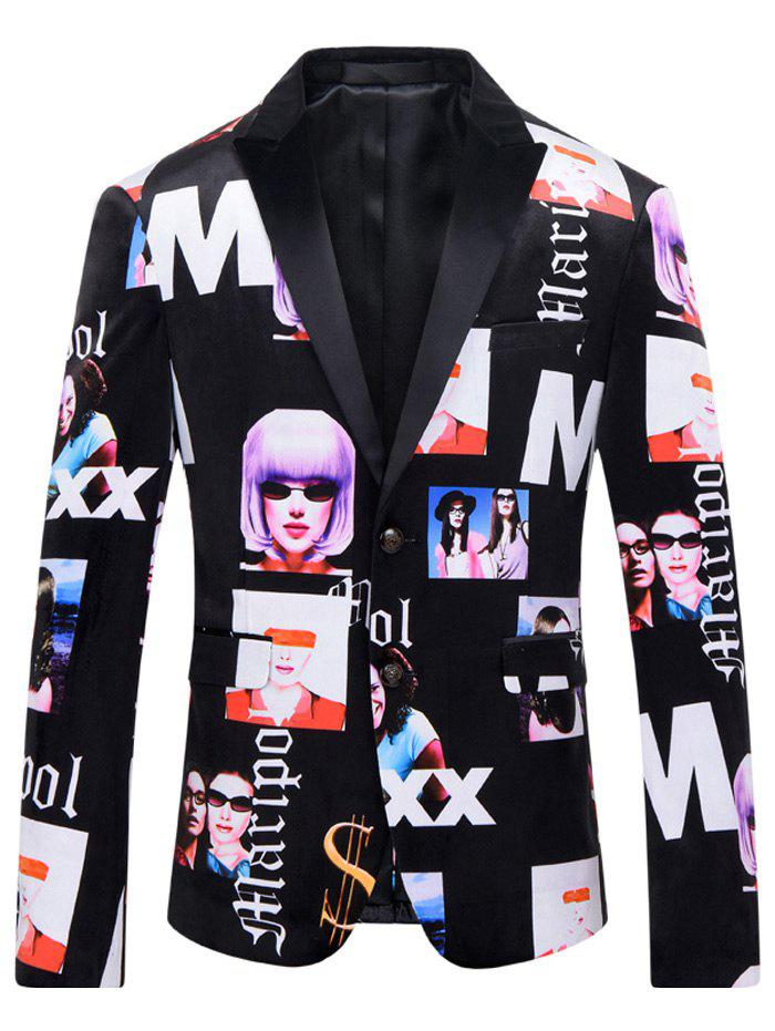 Men's Girl Printed Casual Suit - COLORMIX L