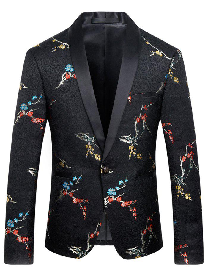 Men's Flower Printed Casual Suit - COLORMIX 4XL