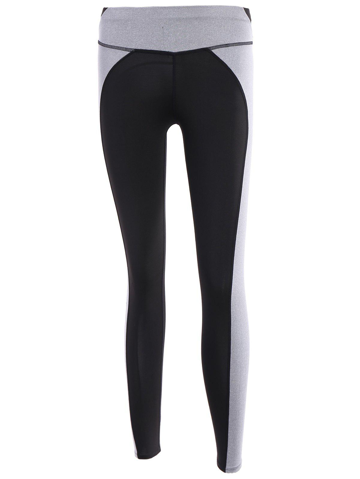 Active Color Block Spliced High Stretchy Women's Yoga Pants