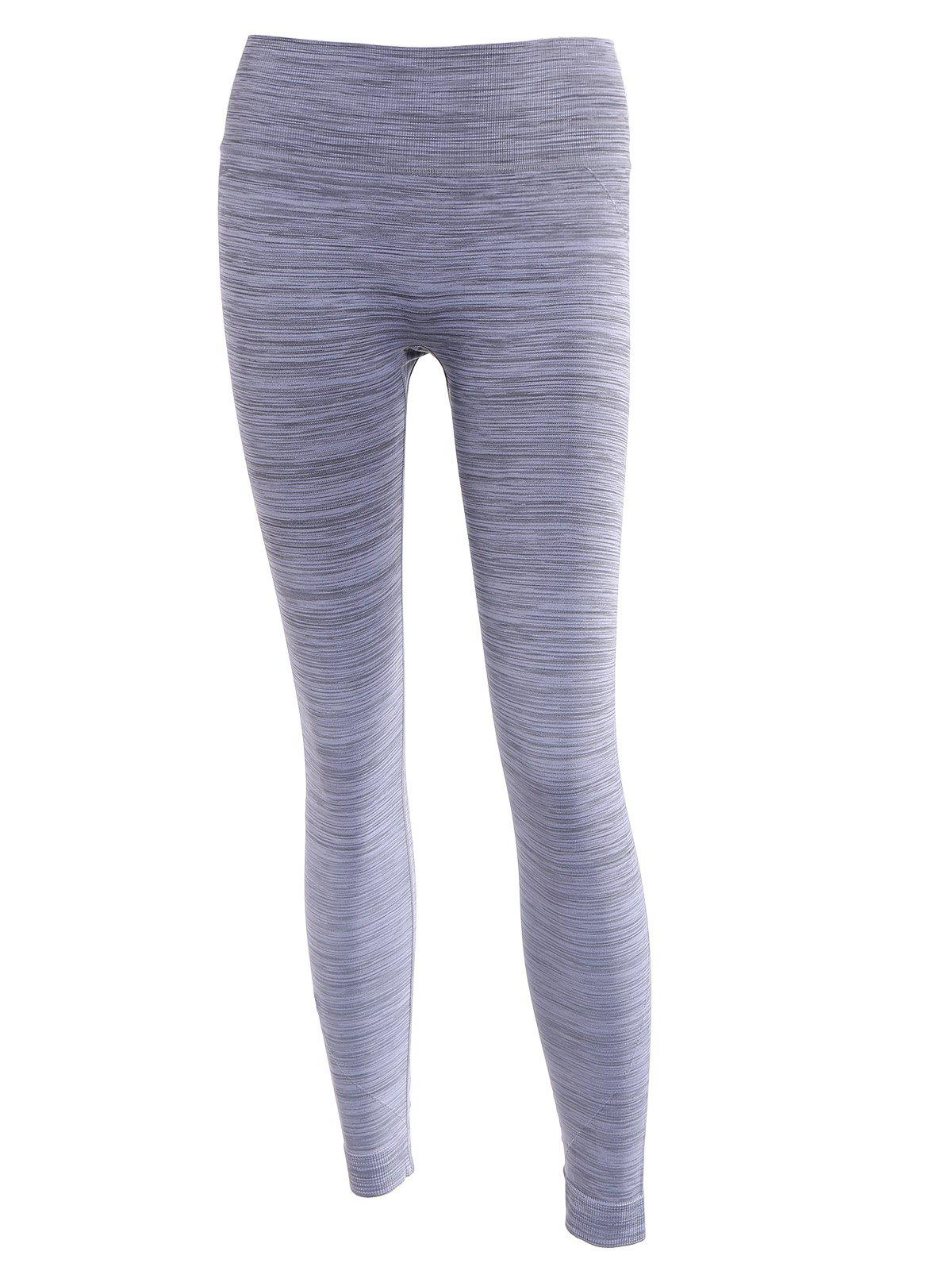 Casual Women's Tie-Dyed Stretch Slimming Yoga Pants - GRAY ONE SIZE(FIT SIZE XS TO M)