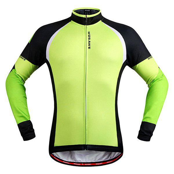 Simple Windproof Long Sleeve Thermal Fleece Cycling Jacket For Unisex durable long sleeve breathable windproof cycling jacket for unisex