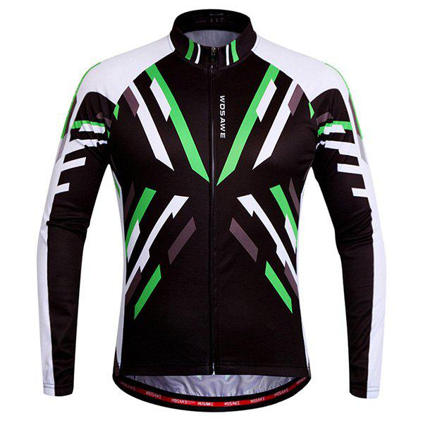 High Quality Breathable Quick Dry Cycling Long Sleeve Jersey For Unisex cycling set long sleeve jersey and bib pants 3d pad pro men anti sweat green fire ciclismo bike suit quick dry jersey bicicleta
