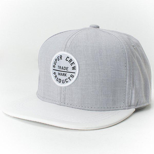 Chic Letters Round Embroidery Fresh Summer Style Women's Baseball Cap - LIGHT GRAY