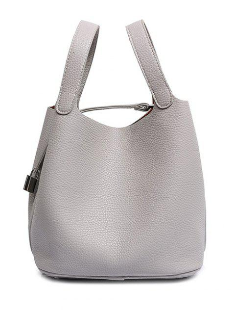 Concise Lock and Solid Color Design Women's Tote Bag - GRAY