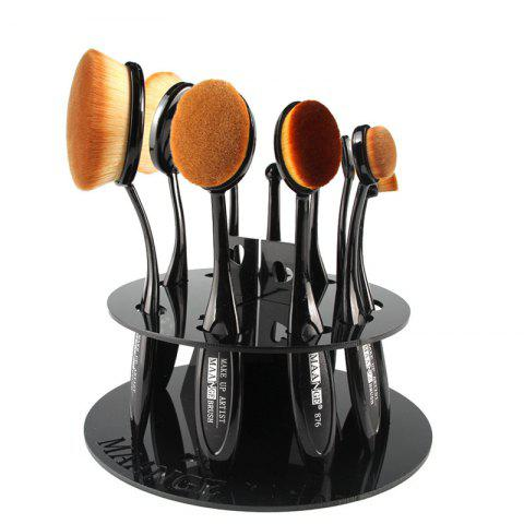 Creative Round Brushtree Brush Holder Brush Display Stand - BLACK