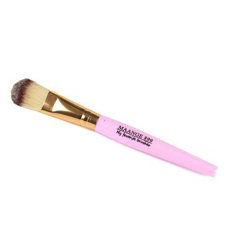 Creative Plastic Handle Nylon Foundation Brush - PINK