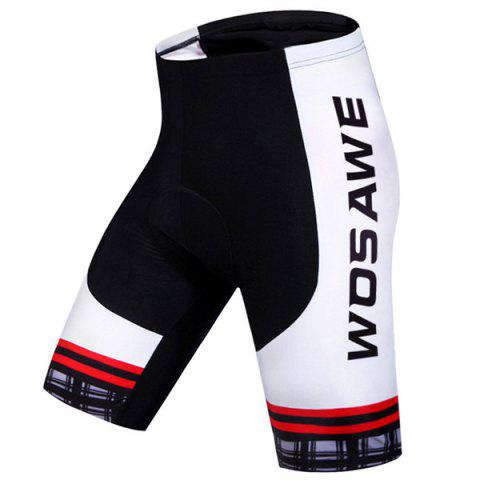 High Quality Plaid Pattern Quick Dry Gel Padded Cycling Shorts For Unisex - WHITE/BLACK S