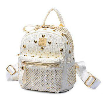 Trendy Metal and Rivets Design Women's Backpack