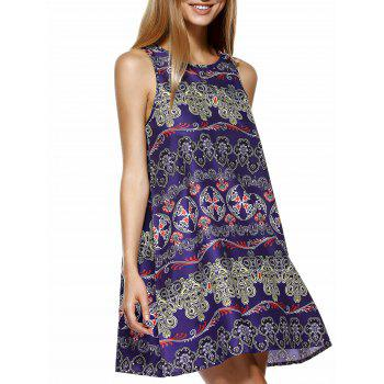 Ethnic Style Tribal Pattern Mini Dress