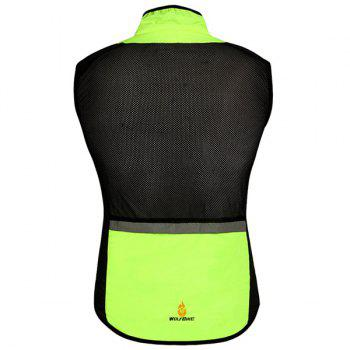 Chic Quality Breathable Windproof Cycling Waistcoat For Unisex - NEON GREEN NEON GREEN