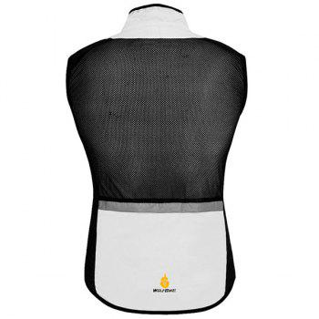 Chic Quality Breathable Windproof Cycling Waistcoat For Unisex - WHITE 2XL