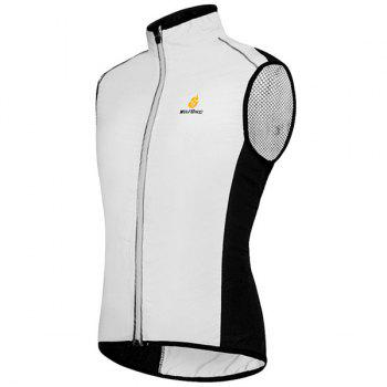 Chic Quality Breathable Windproof Cycling Waistcoat For Unisex - WHITE WHITE