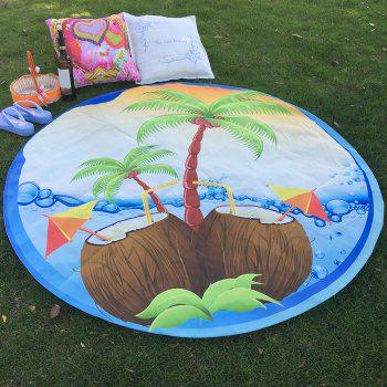 Tropical Bikini Boho Coconut Tree Round Beach Throw Scarf Throw Yoga Mat