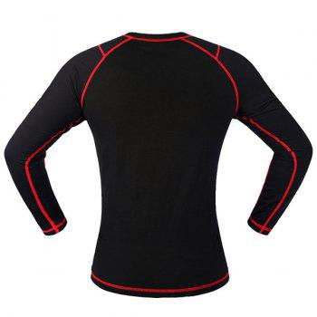 Chic Quality Warmth Thermal Fleece Base Layer Cycling Long Sleeve Jersey For Unisex - RED/BLACK RED/BLACK