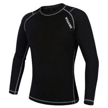 Chic Quality Warmth Thermal Fleece Base Layer Cycling Long Sleeve Jersey For Unisex - XL XL