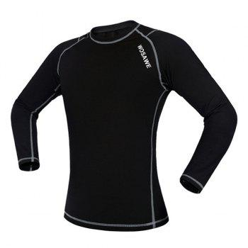 Chic Quality Warmth Thermal Fleece Base Layer Cycling Long Sleeve Jersey For Unisex - M M