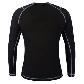 Chic Quality Warmth Thermal Fleece Base Layer Cycling Long Sleeve Jersey For Unisex - BLACK/GREY S
