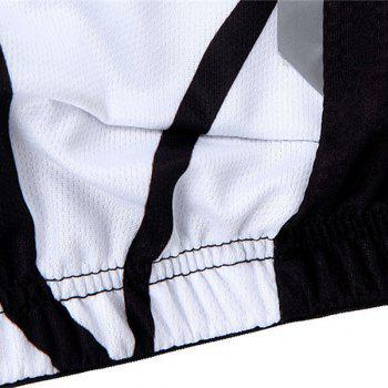 Chic Quality Muscle Pattern Breathable Quick Dry Cycling Long Sleeve Jersey For Unisex - WHITE/BLACK XL