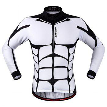Chic Quality Muscle Pattern Breathable Quick Dry Cycling Long Sleeve Jersey For Unisex